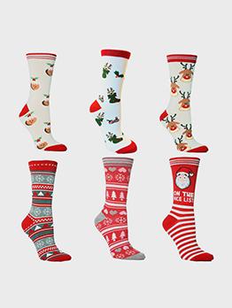 Hot Sale Elk New Arrival Mid Christmas Socks