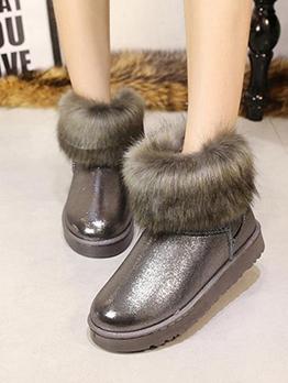 Korean Style Winter Warmth Plush Snow Boots
