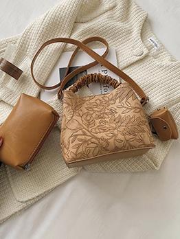 Vintage Embossing Tote Bag For Women