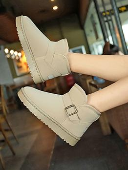 Winter Warmth Slip On Cotton Snow Boots