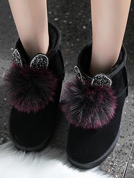 Fashion Vintage Korean Style Snow Cotton Boots