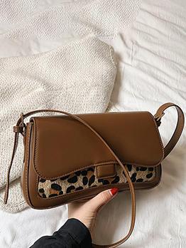 Vintage Fashion Zebra Leopard Print Shoulder Bag