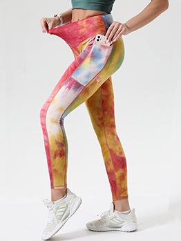 Active Skinny Hip Lift Tie Dye Leggings