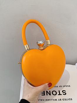 Cute Rhinestone Heart Shoulder Bag For Women