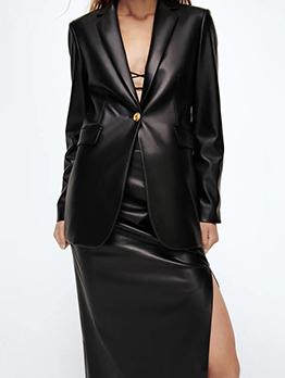 Autumn Fashion Black Temperament Blazer