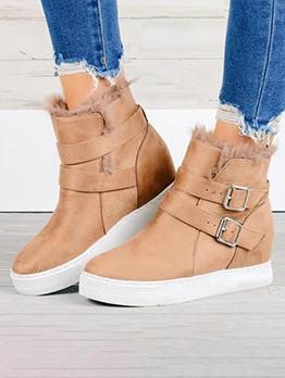Autumn Casual Flats Cotton Snow Boots