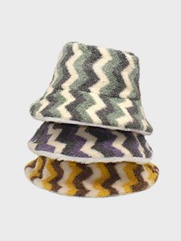 Reversible Contrast Color Plush Bucket Hat