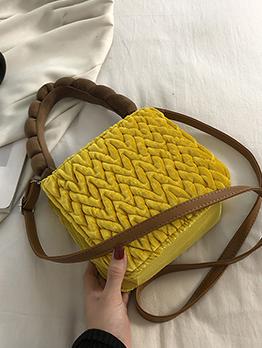 Stylish Hasp Winter Fashion Handbag For Women