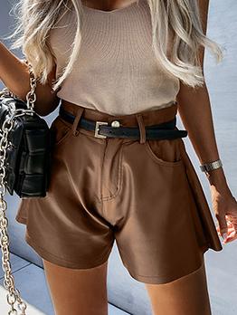 Fashion Solid All-Mach Pocket Short Pants