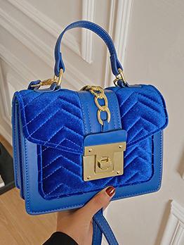 Elegant Versatile Patchwork Shoulder Handbag For Ladies