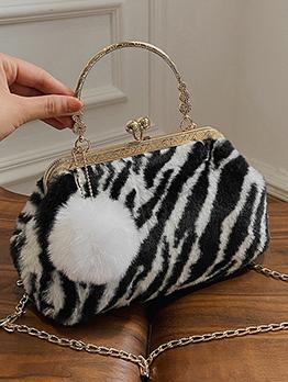 Korean Leopard Zebra Cow Printed Chain Pendant Shoulder Bag