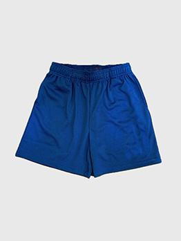 Casual Pure Color Elastic Fly Short Pants Men