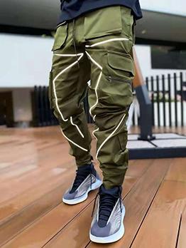 Outdoors Solid Multiple Pocket Men Cargo Pants