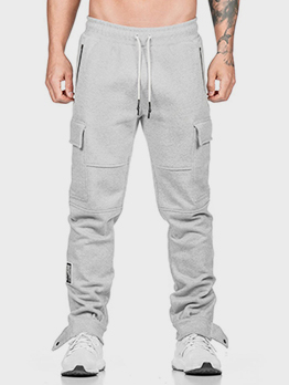 Casual Running Solid Pocket Cargo Pants
