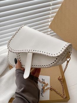 Chic Solid Contrast Color Shoulder Bag For Women