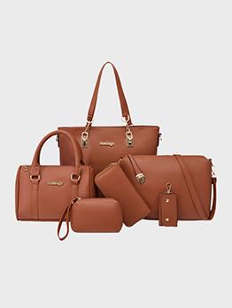 Versatile Travel Solid Handbag Set For Women