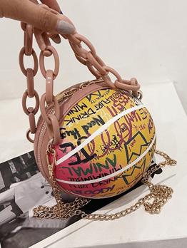 Popular Letter Basketball Chain Handbags