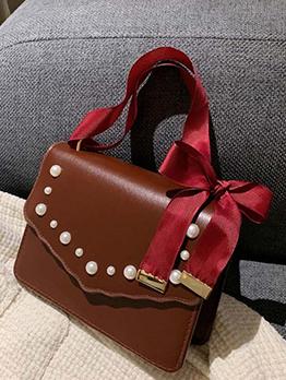 Fashion Faux Pearl Hasp Shoulder Bag