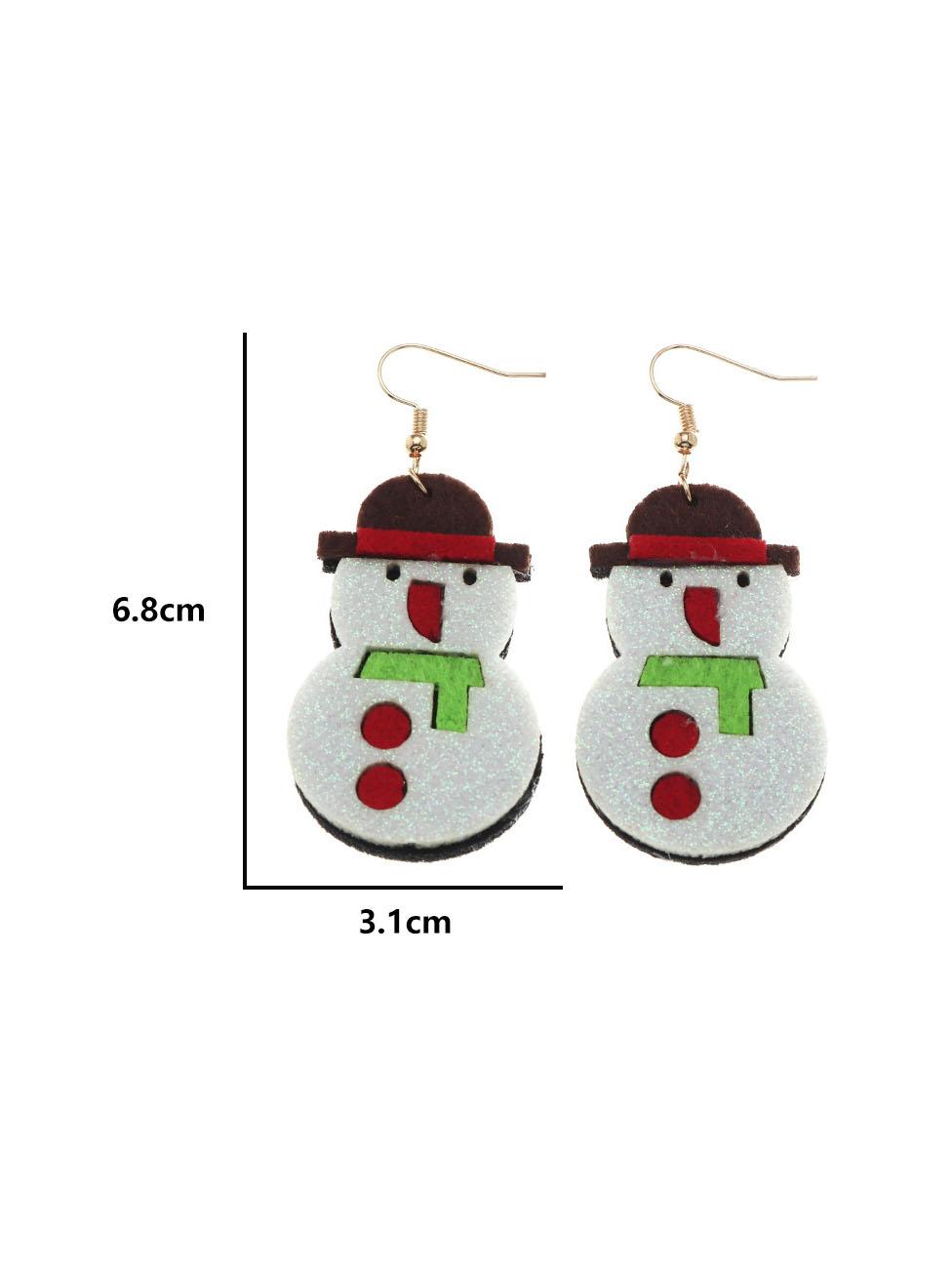 Cute Elk Christmas Tree Snow Christmas Earrings