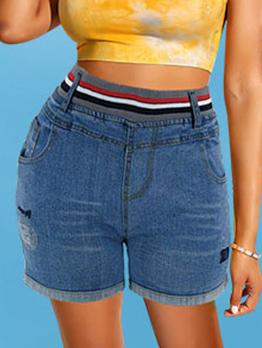 Fashion Mid Waist Casual Stretchable Short Pants