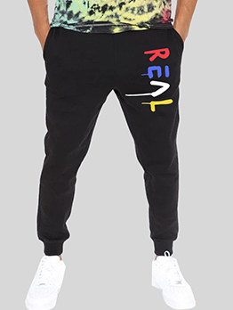 Casual Loose Contrast Color Track Long Pants