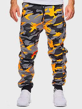 New Camouflage Drawstring Long Pants Men