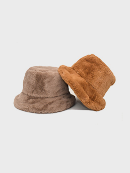 Winter New Arrival Thick Solid Plush Hat