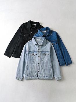 Vintage Pocket Versatile Long Sleeve Denim Jacket