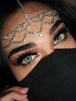 Charming Rhinestone Bohemian Ethnic Bride Forehead Chain