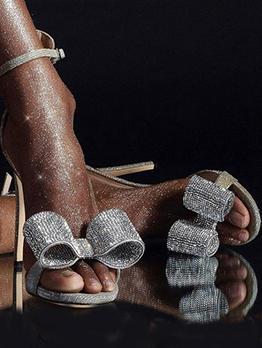 Summer New Arrival Rhinestone Ankle Strap Heels