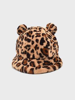 New Arrival Leopard Attractive Cute Bucket Cap