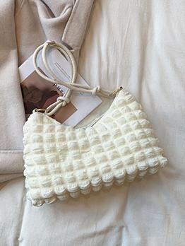 Casual Zipper Grid Tote Bag For Women