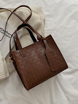 Stylish Zipper Shopping Tote Bag For Women
