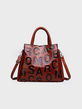 Fashion Versatile Letter Embossing Tote Bag For Women