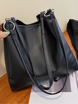 Simple Design Solid Hasp Tote Bag For Women