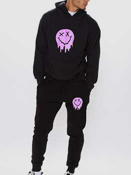 New Print Hoodie With Long Pants Set