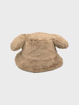 Cute Faux Rabbit Fur Thick Plush Big Ears Cap