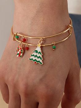 Adjustable Gist Christmas Tree Bell Bracelet