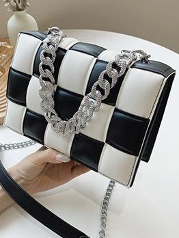 Fashionable Contrast Color Korean One Shoulder Bag