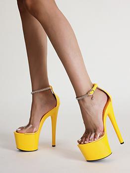 Transparent Night Club Platform Heels For Women