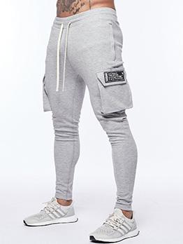 New Pocket Drawstring Straight Track Pants Men