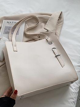 Casual Shopping PU Tote Bag For Women
