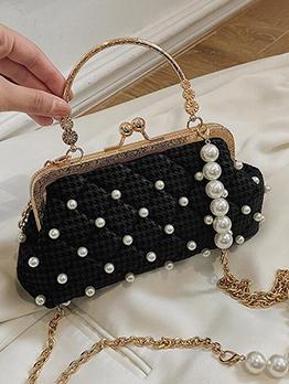 French Style Ladies Faux Pearl Handbag
