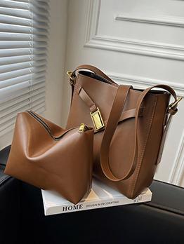 Versatile Fashion Casual Hasp Tote Bag Sets