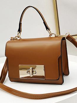 Vintage Twist Lock Shoulder Bag For Ladies