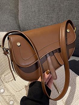 Chic Irregular Pure Color Hasp Shoulder Bag
