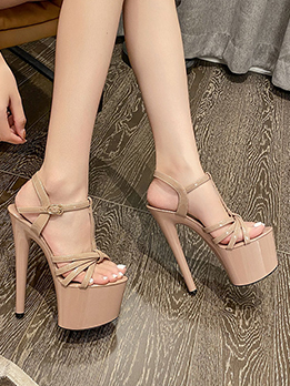 Sexy Hollow Out Platform Heels For Women