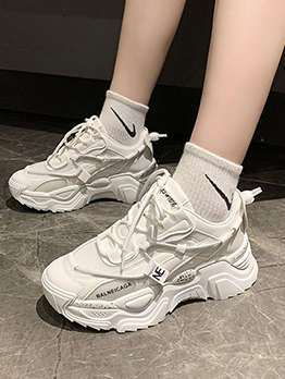 Trendy Spring Gauze Breathable Casual Sneakers