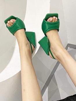Fashion Square Toe High Heels For Women