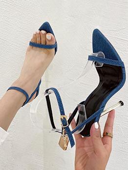 Sexy High Heels Point Toe Ladies Sandal